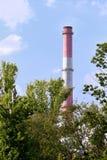 Σωλήνες των εγκαταστάσεων θερμικής παραγωγής ενέργειας Στοκ εικόνα με δικαίωμα ελεύθερης χρήσης