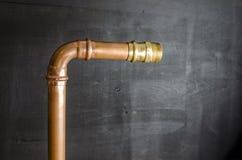 Σωλήνες υδραυλικών του coppe Στοκ Φωτογραφία