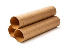 Σωλήνες χαρτοκιβωτίων για το έγγραφο Στοκ Φωτογραφία