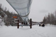 Σωλήνωση της Αλάσκας Στοκ Εικόνες