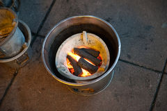 Σόμπα ξυλάνθρακα Στοκ εικόνες με δικαίωμα ελεύθερης χρήσης