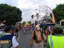 Σόλο πολιτισμός καρναβαλιού μπατίκ στοκ φωτογραφίες