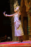 Σόλο χορευτής Apsara Στοκ Φωτογραφίες