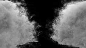 Σύγκρουση δύο ρευμάτων του καπνού Περιέχει το άλφα κανάλι απεικόνιση αποθεμάτων