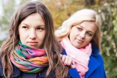 Σύγκρουση μεταξύ των φίλων Στοκ φωτογραφία με δικαίωμα ελεύθερης χρήσης