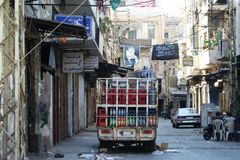 Σύγκρουση της Τρίπολης Λίβανος Στοκ Φωτογραφίες