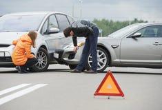 Σύγκρουση τροχαίου ατυχήματος Στοκ εικόνες με δικαίωμα ελεύθερης χρήσης