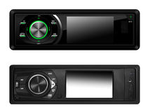 Σύγχρονα ακουστικά συστήματα αυτοκινήτων που απομονώνονται Στοκ εικόνες με δικαίωμα ελεύθερης χρήσης