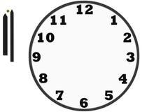 Σύγχρονα αναλογικά ρολόγια που γίνονται στο απλό σχέδιο Στοκ φωτογραφία με δικαίωμα ελεύθερης χρήσης
