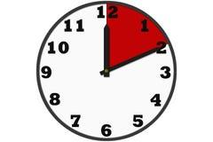 Σύγχρονα αναλογικά ρολόγια που γίνονται στο απλό σχέδιο Στοκ Εικόνες