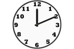 Σύγχρονα αναλογικά ρολόγια που γίνονται στο απλό σχέδιο Στοκ εικόνα με δικαίωμα ελεύθερης χρήσης