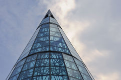 Σύγχρονα αρχιτεκτονικά σχέδια της Σιγκαπούρης στο δρόμο οπωρώνων Στοκ Φωτογραφίες