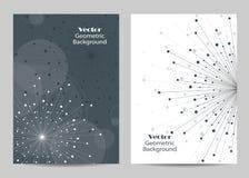 Σύγχρονα διανυσματικά πρότυπα για την κάλυψη φυλλάδιων A4 στο μέγεθος ελεύθερη απεικόνιση δικαιώματος