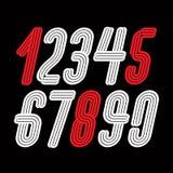Σύγχρονα διανυσματικά ψηφία, φοβιτσιάρης ψηλή διακοσμητική συλλογή αριθμών ελεύθερη απεικόνιση δικαιώματος