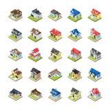Σύγχρονα εικονίδια κτηρίων απεικόνιση αποθεμάτων