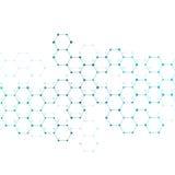 Σύγχρονα εμβλήματα επιστήμης Δομή μορίων του DNA και των νευρώνων Στοκ Φωτογραφίες