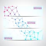 Σύγχρονα εμβλήματα επιστήμης Δομή μορίων του DNA και των νευρώνων Στοκ εικόνες με δικαίωμα ελεύθερης χρήσης