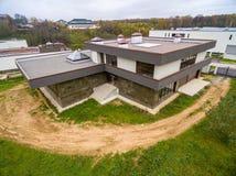 Σύγχρονα εξοχικά σπίτια κάτω από την κατασκευή Στοκ Φωτογραφία