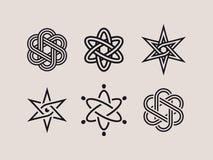 Σύγχρονα επαγγελματικά στοιχεία και σύμβολα ατόμων καθορισμένα διανυσματική απεικόνιση