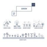 Σύγχρονα λεπτά σύνολο εικονιδίων λουλουδιών γραμμών απομονωμένα κήπος και qua ασφαλίστρου Στοκ φωτογραφία με δικαίωμα ελεύθερης χρήσης