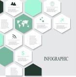 Σύγχρονα διανυσματικά αφηρημένα infographic στοιχεία Στοκ Εικόνες