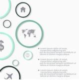 Σύγχρονα διανυσματικά αφηρημένα infographic στοιχεία Στοκ Εικόνα