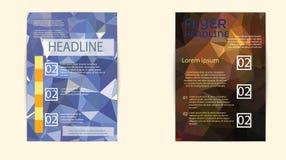 Σύγχρονα κάλυψη φυλλάδιων και πρότυπο επικεφαλίδων Στοκ Φωτογραφία