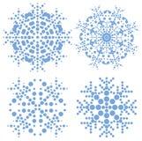 σύγχρονα καθορισμένα snowflakes π&omi Στοκ εικόνα με δικαίωμα ελεύθερης χρήσης
