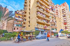 Σύγχρονα κατοικημένα κτήρια, Αλεξάνδρεια, Αίγυπτος Στοκ Εικόνες