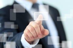 Σύγχρονα κοινωνικά κουμπιά συμπίεσης χεριών Στοκ εικόνα με δικαίωμα ελεύθερης χρήσης
