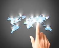 Σύγχρονα κοινωνικά κουμπιά συμπίεσης χεριών Στοκ φωτογραφία με δικαίωμα ελεύθερης χρήσης