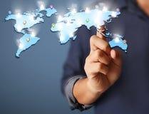 Σύγχρονα κοινωνικά κουμπιά συμπίεσης χεριών Στοκ Εικόνες