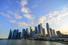 Σύγχρονα κτήρια κεντρικός στη Σιγκαπούρη Στοκ φωτογραφία με δικαίωμα ελεύθερης χρήσης