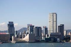 Σύγχρονα κτήρια ομάδας στην πόλη Χογκ Κογκ Κίνα Στοκ Φωτογραφίες