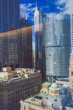 Σύγχρονα κτήρια πολυόροφων κτιρίων στην κεντρική επιχείρηση Districy ν του Σίδνεϊ Στοκ Εικόνα