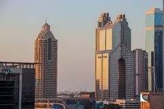 Σύγχρονα κτήρια σε μια πόλη στοκ εικόνα με δικαίωμα ελεύθερης χρήσης