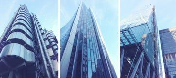 Σύγχρονα κτήρια στην πόλη του Λονδίνου Στοκ εικόνα με δικαίωμα ελεύθερης χρήσης