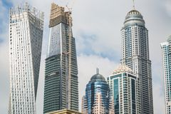 Σύγχρονα κτήρια στη μαρίνα του Ντουμπάι, Ντουμπάι, Ε.Α.Ε. Στοκ Φωτογραφίες
