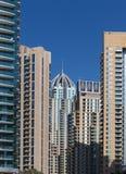 Σύγχρονα κτήρια στη μαρίνα του Ντουμπάι Στοκ Φωτογραφία