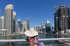 Σύγχρονα κτήρια στη μαρίνα του Ντουμπάι Στοκ Εικόνες