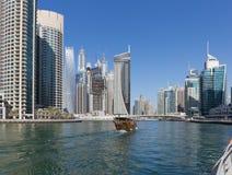 Σύγχρονα κτήρια στη μαρίνα του Ντουμπάι Στοκ Εικόνα