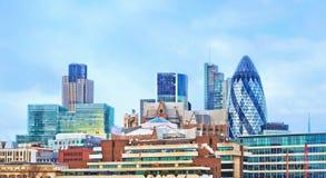 Σύγχρονα κτήρια στο Λονδίνο, εικονική παράσταση πόλης Στοκ Φωτογραφίες