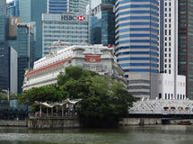 Σύγχρονα κτήρια της Σιγκαπούρης Στοκ εικόνες με δικαίωμα ελεύθερης χρήσης