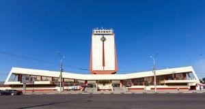 Σύγχρονα κτήρια του σιδηροδρομικού σταθμού στην πόλη Lipetsk Ρωσία Στοκ Εικόνες