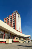 Σύγχρονα κτήρια του σιδηροδρομικού σταθμού στην πόλη Lipetsk Ρωσία Στοκ εικόνα με δικαίωμα ελεύθερης χρήσης