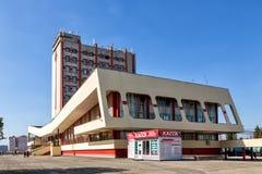 Σύγχρονα κτήρια του σιδηροδρομικού σταθμού στην πόλη Lipetsk Russa Στοκ Φωτογραφία