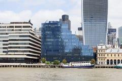 Σύγχρονα κτίρια γραφείων, πόλη του Λονδίνου, Λονδίνο, Ηνωμένο Βασίλειο Στοκ Φωτογραφίες