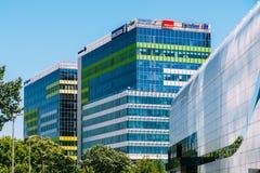 Σύγχρονα κτίρια γραφείων στη βόρεια περιοχή της πόλης του Βουκουρεστι'ου Στοκ Εικόνες