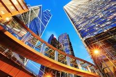 Σύγχρονα κτίρια γραφείων στο Χονγκ Κονγκ Στοκ Εικόνες