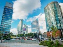 Σύγχρονα κτίρια γραφείων την 1η Σεπτεμβρίου 2017 στην περιοχή ι Gangnam Στοκ Φωτογραφίες
